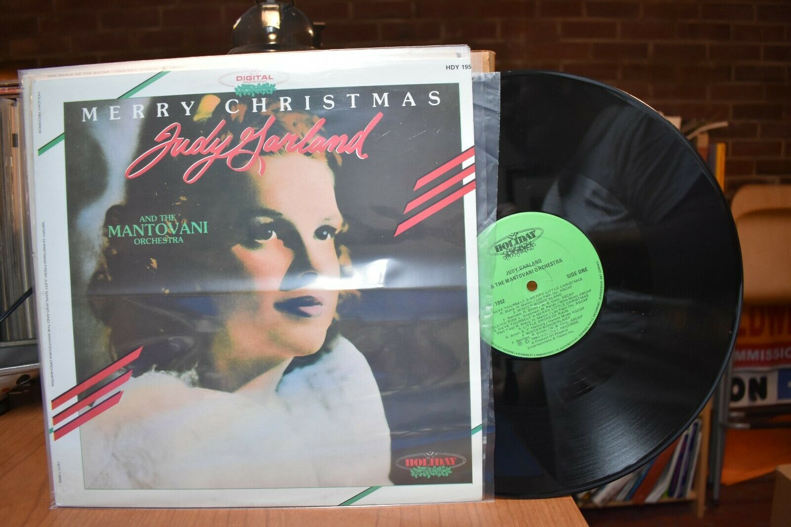 Judy Garland Mantovani Merry Christmas LP Holiday HDY 1952 Stereo