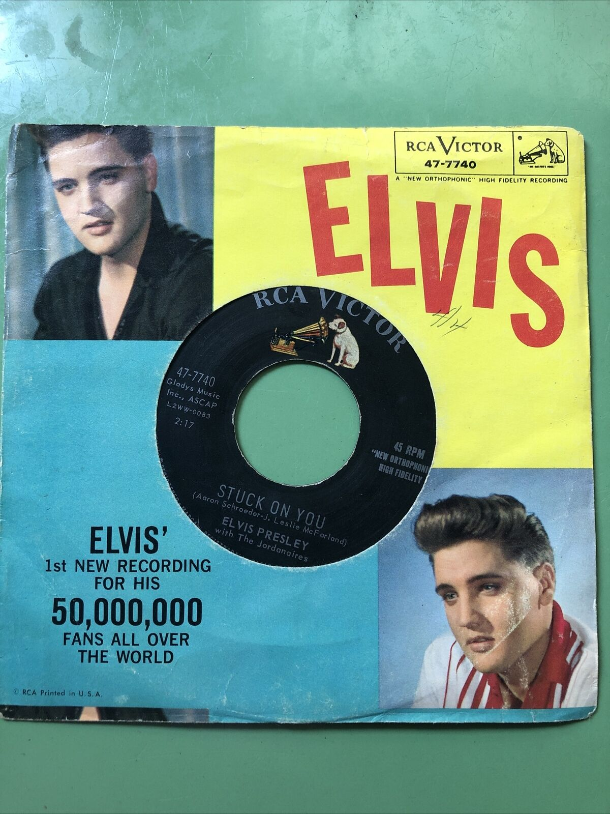 ELVIS PRESLEY - STUCK ON YOU/FAME AND FORTUNE - 1960 RCA VICTOR 47-7740 45RPM