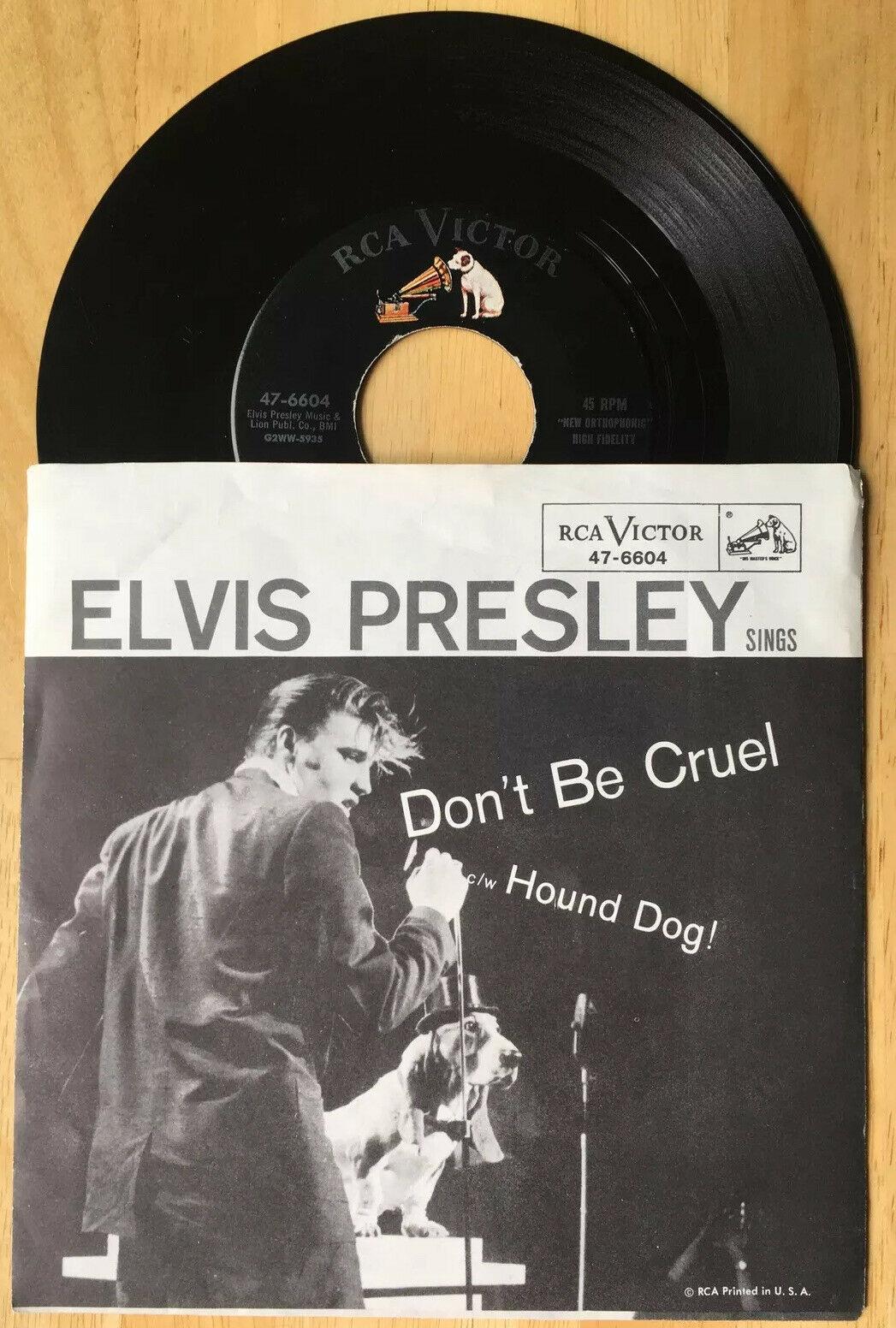"Elvis Presley -Don't Be Cruel / Hound Dog RCA Victor 47-6604 7"" 45RPM w/sleeve"