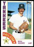 1984 Topps Ron Guidry New York Yankees #406