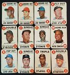 🤯L@@K🤯1968 TOPPS GAME COMPLETE Set(33) MANTLE/MAYS/AARON/ROSE/YAZ/CLEMENTE🙈