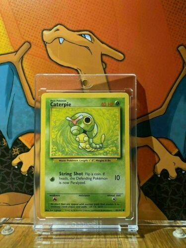 45//102 Pokemon Card. Caterpie Base Set 1999 Unlimited Print EX