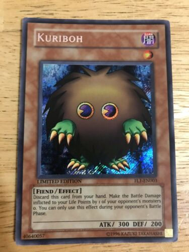Kuriboh YUGIOH Secret Rare NM Promo LP//NM FAST SHIP FL1-EN003