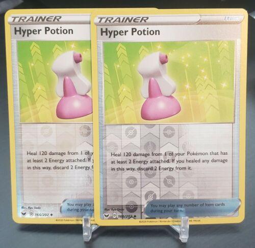 166//202 Hyper Potion Uncommon Reverse Holo Card Pokemon Sword /& Shield Base Set