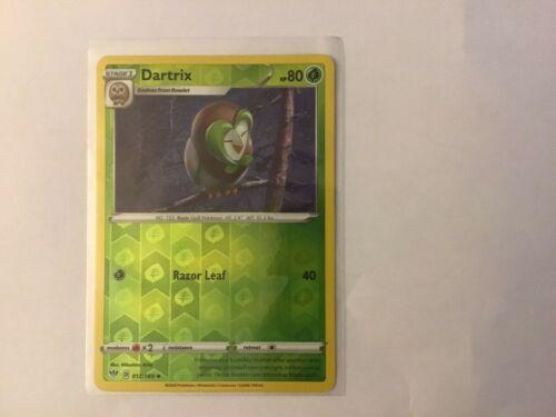 Dartrix  12/189 S&S: Darkness Ablaze  Holo Reverse  Mint/NM Pokemon - Image 1