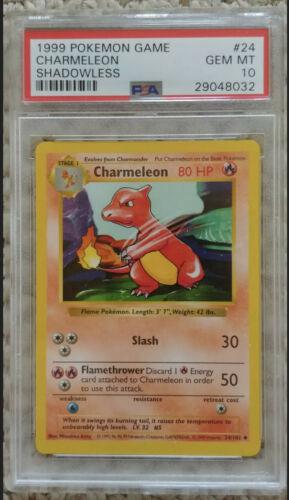 Charmeleon 24//102 Base Set Pokemon Card Light Play//Excellent Cond PWE//1ST CLASS