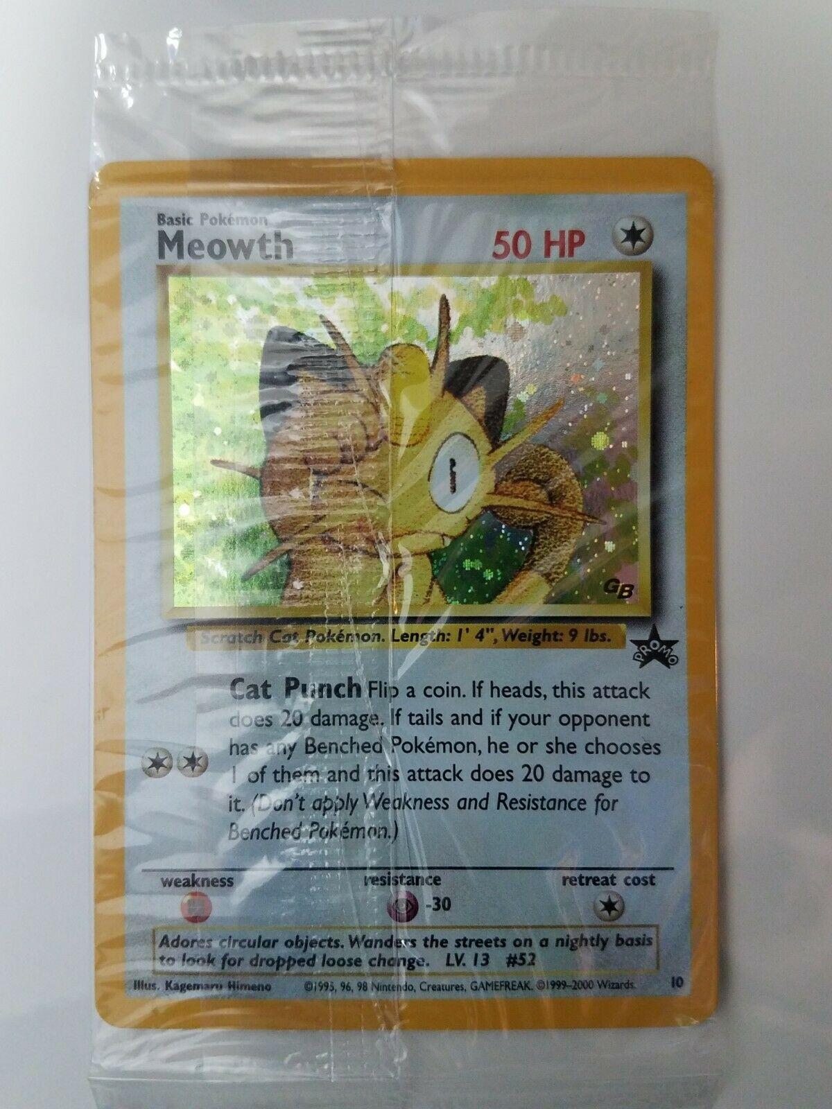 Black Star Promo Pokemon Card $1 Flat Shipping SEALED HOLO Meowth # 10