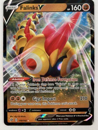 110//192 Holo Foil Pokemon REBEL CLASH Falinks V
