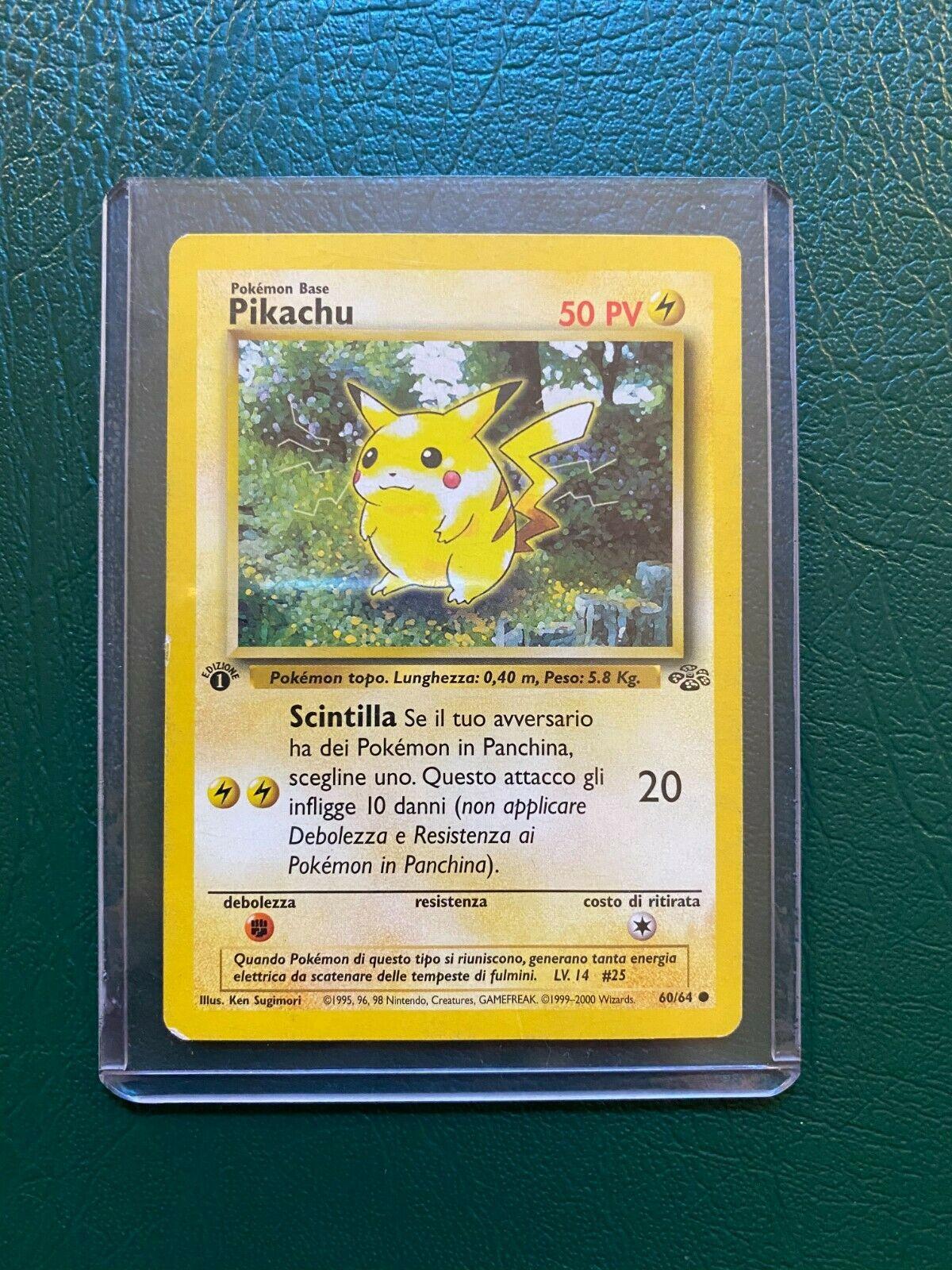 60//64 1999 Rarity Jungle-MINT Pokemon Card 1 Edition Pikachu