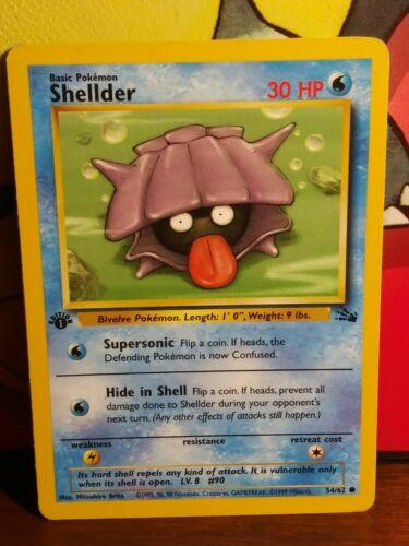 Shellder Fossil Pokemon Card LP