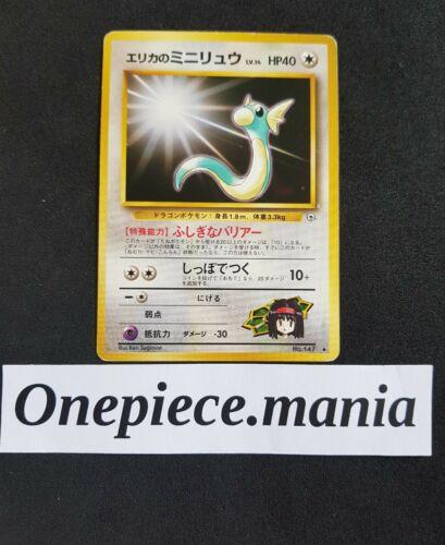 PL JAPANESE Pokemon ERIKA/'S DRATINI Card GYM Promo Set#147 CoroCoro Comic PLAYED